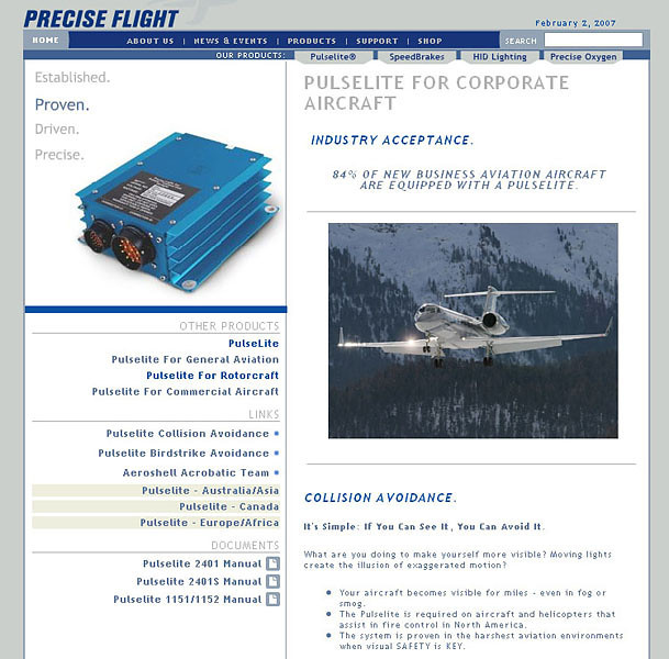 Precise Flight - Website