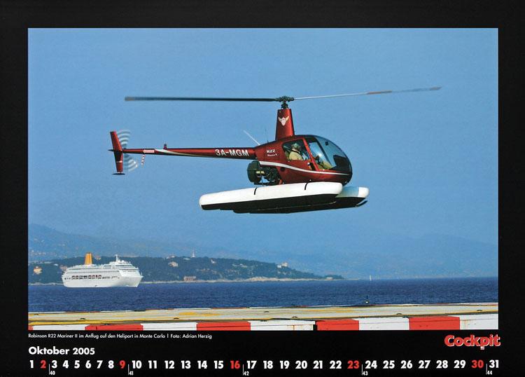 Cockpit Calendar – Rotorworld Oct 2005