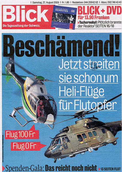 Blick - News Paper Cover 27.Aug 2005