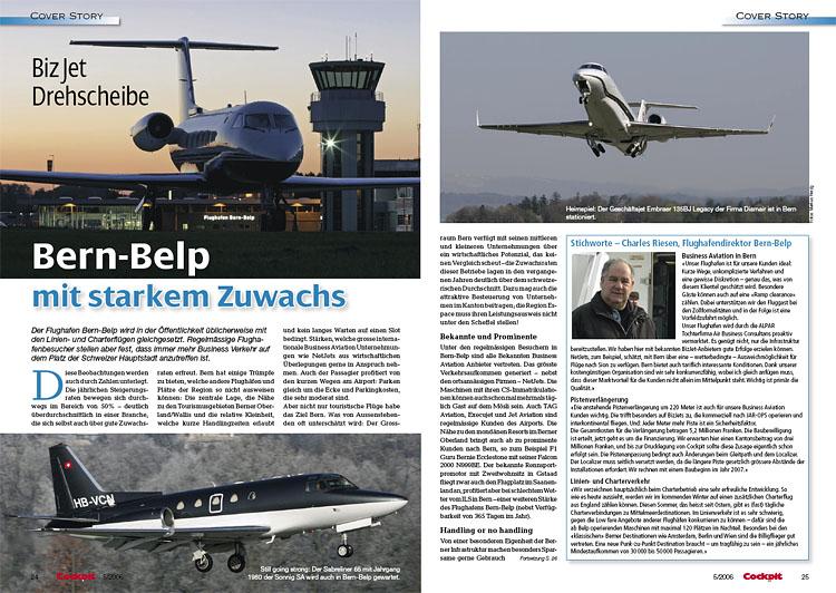 Cockpit - Biz Jet Drehscheibe Bern-Belp  May 2006