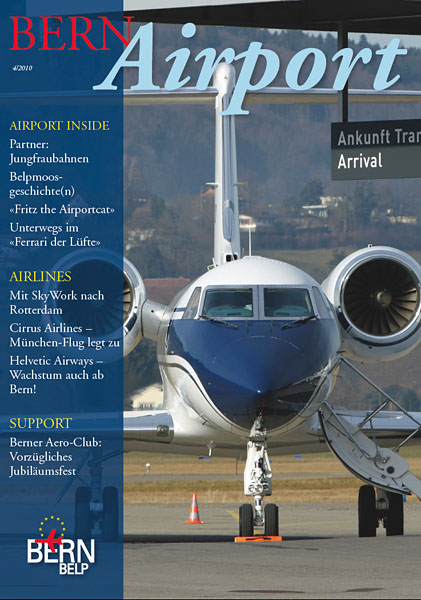 Bern Airport - Magazine Cover No.4 2010 - N474D