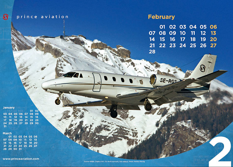 Prince Aviation - Calendar Feb 2011