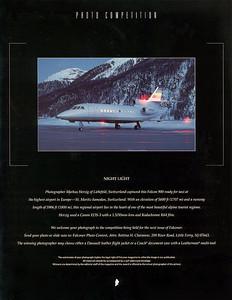 Dassault Falcon - Falconer Magazine Backcover 20/2002