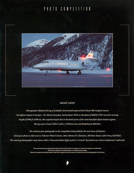 Dassault Falcon - Falconer Magazine Backcover 20/2002