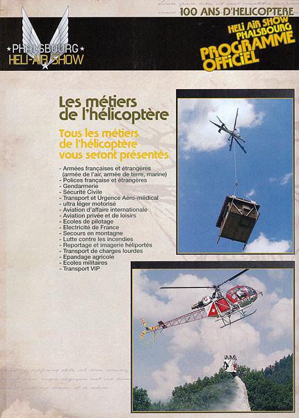Phalsbourg Heli-Air Show - Programme Officiel  Sep 2007