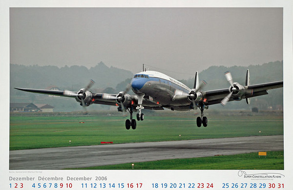 Super Constellation Flyers - Calendar Dec 2006