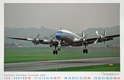 Super Constellation Flyers - Calendar Dec 2006