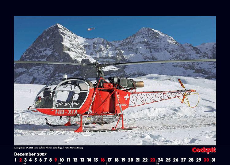 Cockpit Calendar – Rotorworld Dec 2007
