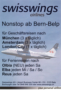Swisswings Airlines - Advertisement 2004