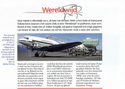 DDA Dakota Magazine - TF-NPK in Iceland  No.4 2003