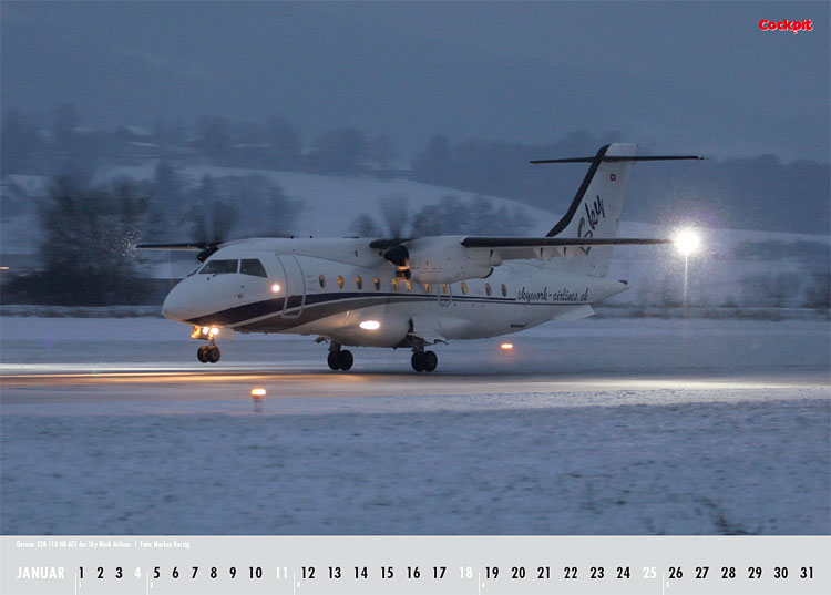 Cockpit Calendar – Airliner Jan 2009