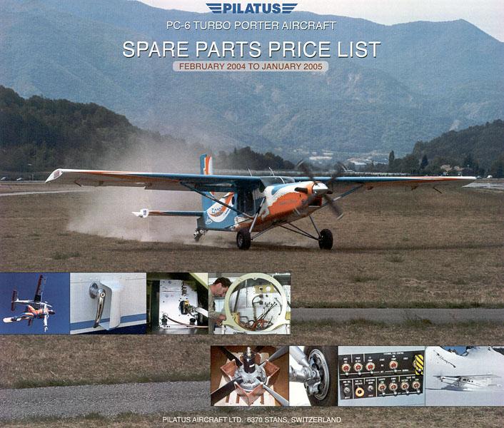 Pilatus Aircraft - Spare Part Catalog 2004