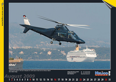 Helico - Calendar Aug 2009 - HB-ZDC
