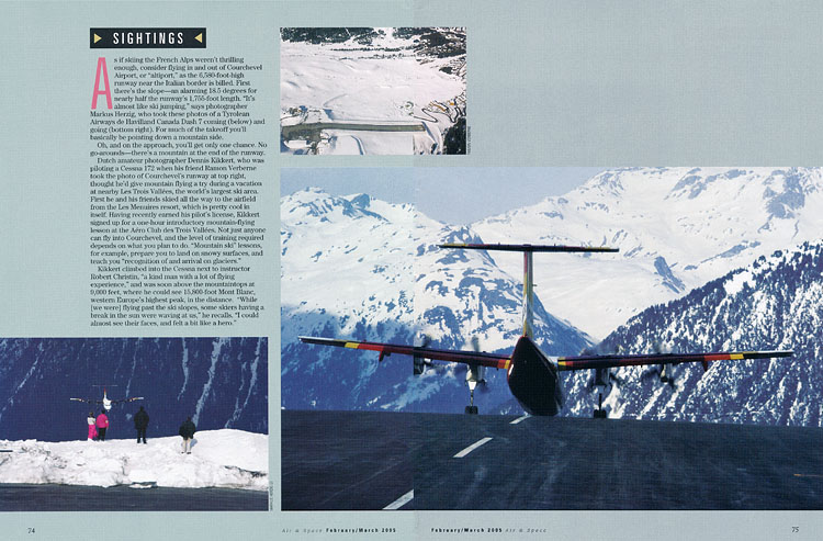 Air & Space - Sightings: Courchevel  Feb-Mar 2005