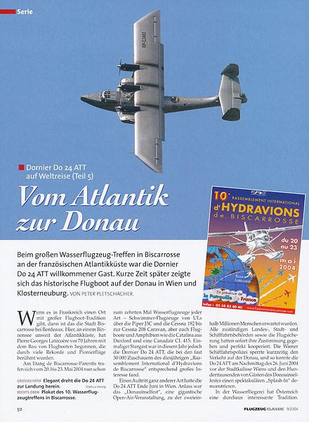 Flugzeug Classic - Vom Atlantik zur Donau  Sep 2004