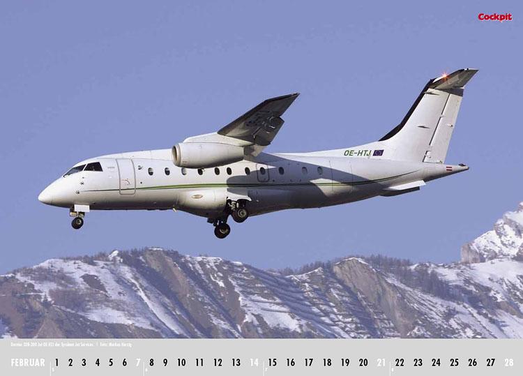 Cockpit Calendar – Airliner Feb 2010 - OE-HTJ