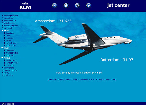 KLM Jet Center - Website