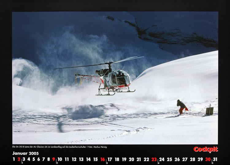 Cockpit Calendar – Rotorworld Jan 2005