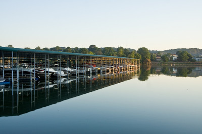 Boat reflections in the morning at Concord Park, Knoxville, TN