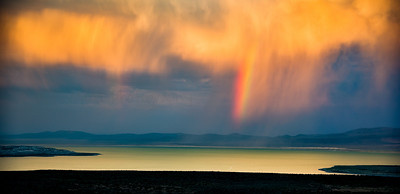 Storm and Rainbow Over Mono Lake