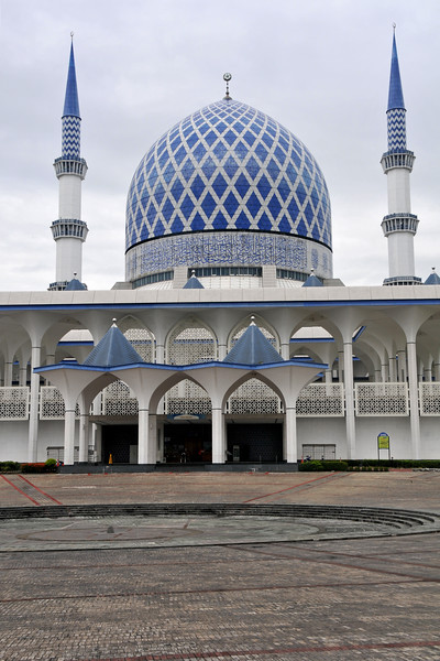 Sultan Salahuddin Mosque, also known as the Blue Mosque. Capped by one of the largest religious domes in the world, the mosque uses blue as a dominant colour and thus the name. It occupies about 36 acres of beautiful parkland surrounded by the Municipal Council Tower, State Library, State Museum and the Lake Gardens. The Sultan Salahuddin Abdul Aziz Shah Mosque is the state mosque of Selangor. It is Malaysia's biggest mosque and also the second biggest mosque in Southeast Asia after Istiqlal Mosque in Jakarta, Indonesia.