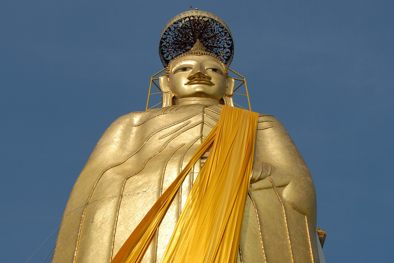 The huge Buddha statue in Bangkok, Thailand which is named Luang Phor TO was believed to be first constructed back in 1867 during the reign of King Rama IV and lasted probably 60 years. The work on it actually stretched to King Rama VII! Phra Soomdej Toh who originated the idea actually never saw its completion and passed away in the temple when he was 80 years old (1872).