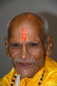 Swami Atmanandaji. Holy man who lives in a village near Varanasi, North India