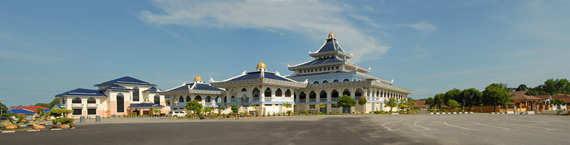 Panoramic image of a Mosque in Melaka. Sekolah Rendah Agama Arab Al Falah, Jelatang, Alor Gajah, Melaka, Malaysia.
