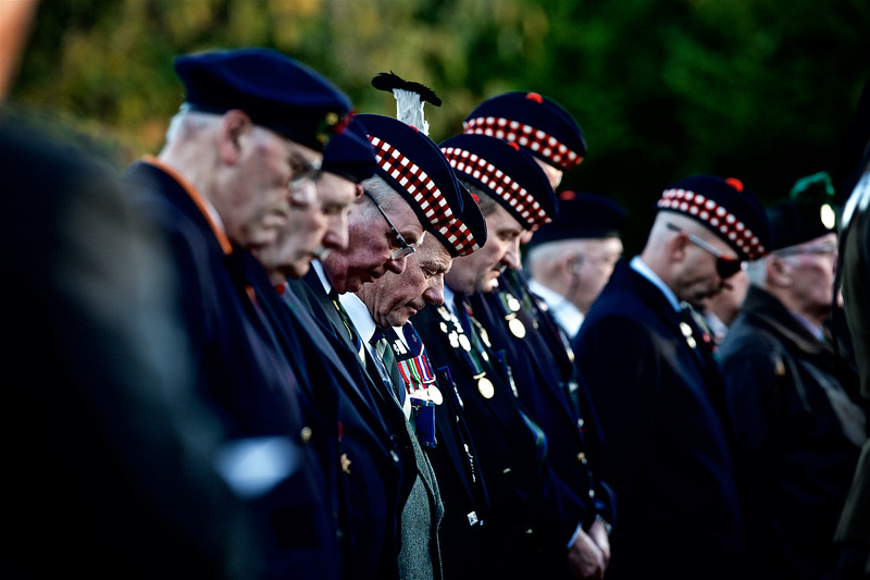 Ex-Servicemen pray during the Inverness Remembrance Service and Parade.<br /> <br /> Picture: Paul Campbell