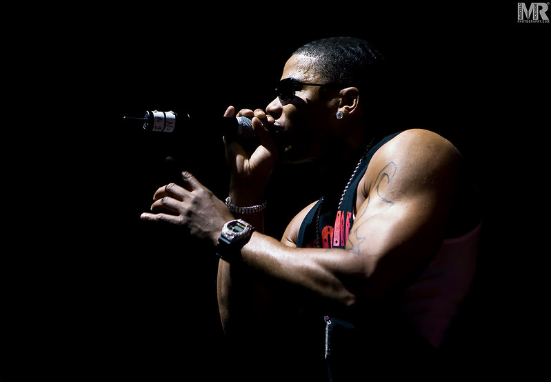 Photography of Nelly at a Concert and Celebrity performance in Reno NV.