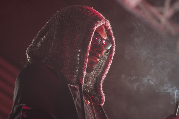 Concert Photography portrait of Snoop Dogg.