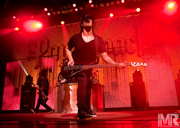 Photography of Tobin and Papa Roach at a Concert and Celebrity performance in Reno NV.