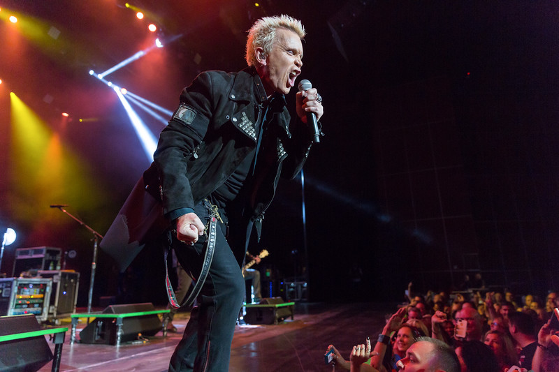 Photographs of Billy Idol live in concert, by Marcello Rostagni Photography