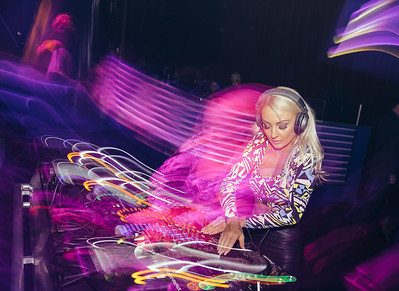 Event Photographer Marcello Rostagni photographs beautiful Dj Brooke Evers performing live in Lake Tahoe.
