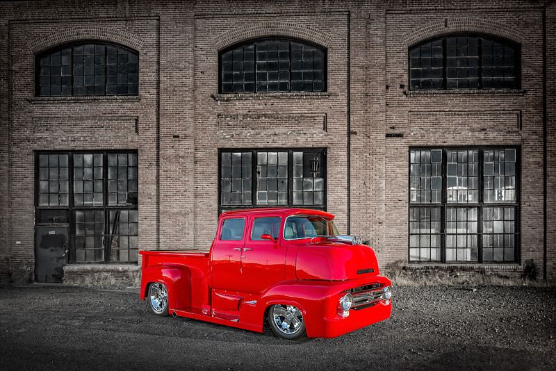 Advertising photography of Red Truck by Reno Photographer Marcello Rostagni.