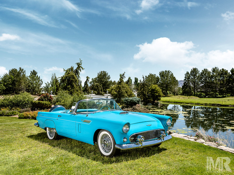 Advertisement photography of Thunderbird Blue Automobile at Ranch Harrah Reno, NV.