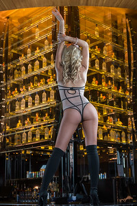Reno Photographer creates editorial photography for Reno Tahoe Tonight Magazine of Lex Nightclub Go Go Dancer.