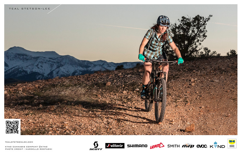 Mountain Biking lifestyle advertisement photography for KYND Cannabis.