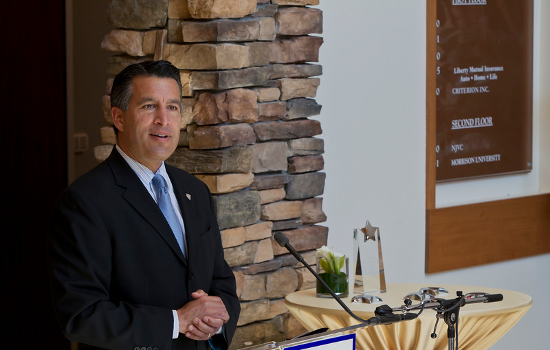 Photography of Governor Sandoval at NJVC opening Ceremony Reno, NV.
