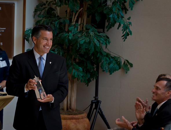 Corporate Event Photography of Governor Sandoval at NJVC opening Ceremony Reno, NV.