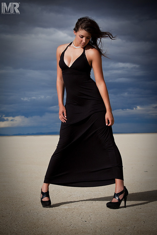 Reno photographer Marcello Rostagni photographs beautiful model on the playa.
