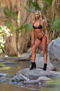 Fitness and beauty Photography of fitness competitor in an Oasis