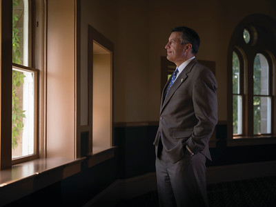 Portrait of Governor Sandoval looking towards his future by Portrait Photographer Marcello Rostagni Photography.