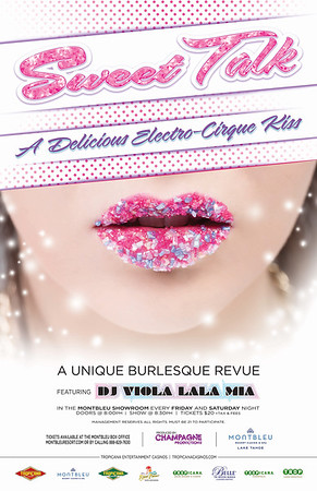 Reno Photographer Marcello Rostagni photographs an advertisement of a models candy coated lips for Sweet Talk Show.
