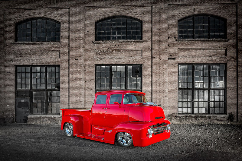 Reno Advertisement Photographer Marcello Rostagni Photographs Classic Truck with a modern twist in in Sparks, NV for Hot August Nights Advertisement.