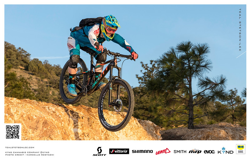 Reno Photographer Marcello Rostagni captures lifestyle action mountain biking photography for Kynd Cannabis.