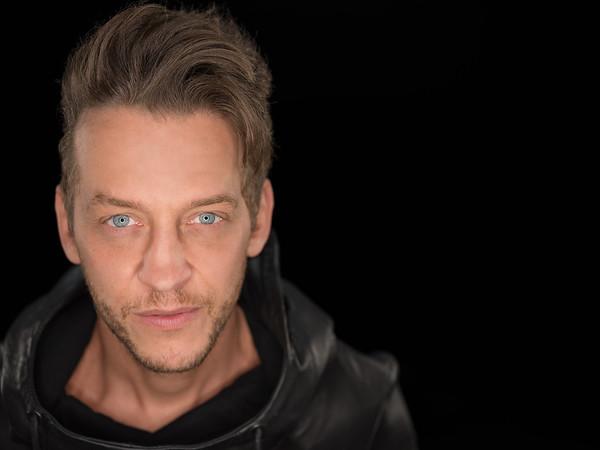 Portrait of DJ Kryoman in studio by Reno Advertisement Photographer Marcello Rostagni.