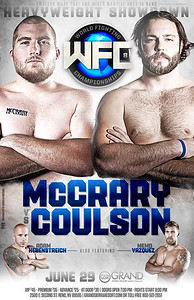 Reno Photographer Marcello Rostagni photographs MMA fighters for WFC Advertisement Fight Poster.
