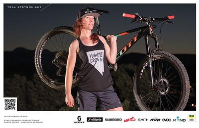 Advertisement Photographer Marcello Rostagni portrait of Sponsored Kynd Cannabis Athlete.