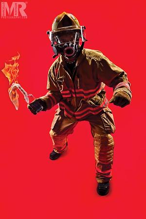 Conceptual Portrait photography of Reno fireman by Reno Photographer Marcello Rostagni.
